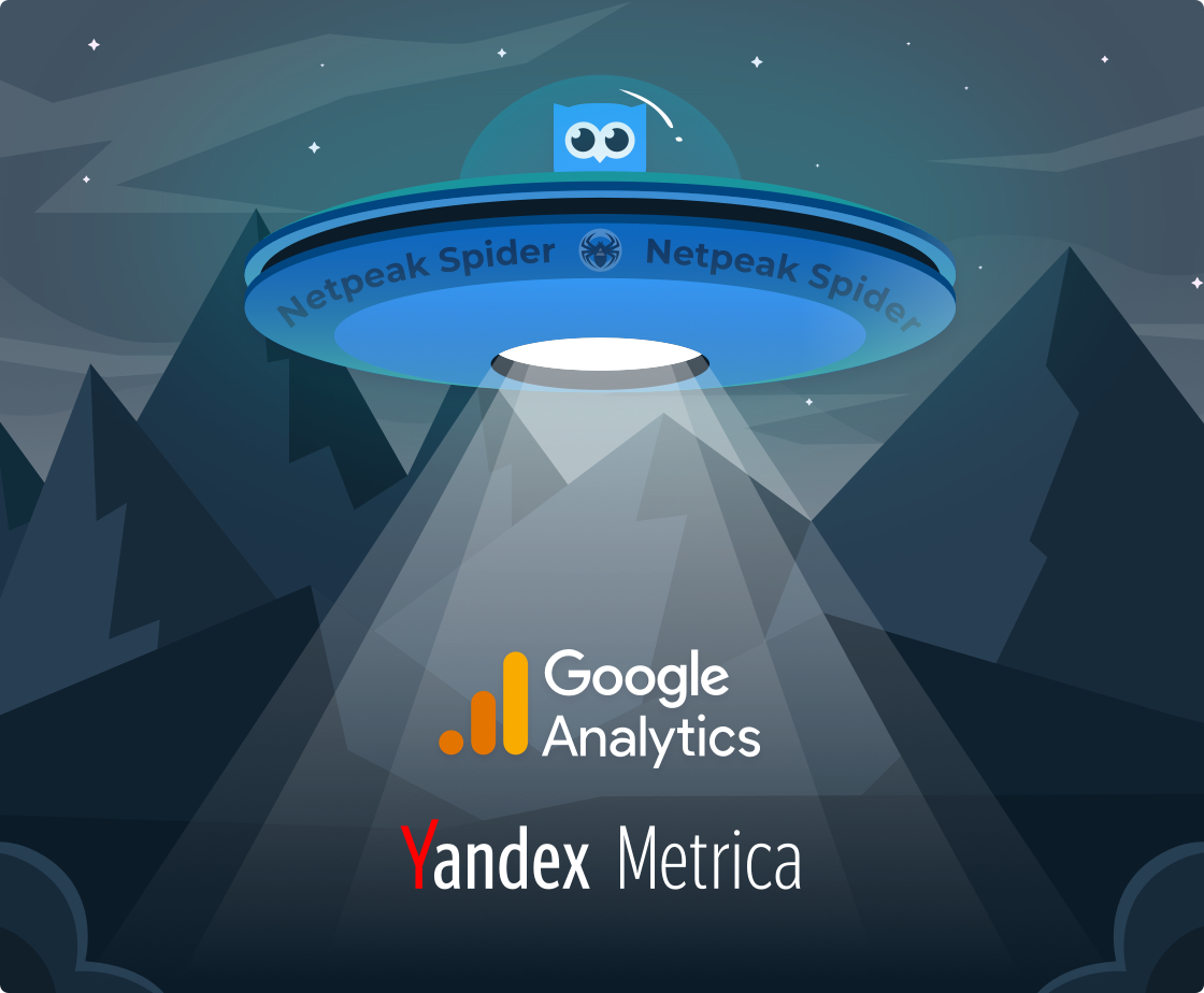 Integration with Google Analytics and Yandex.Metrica in Netpeak Spider